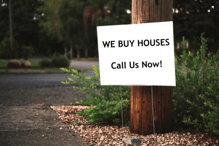 We Buy Houses Bandit Sign