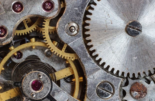 Inside Of A Mechanical Watch